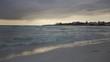 Sea beach in Italy, View of beach sea on sun light in the summer. Italy, Puglia, Video Clip