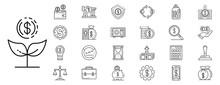 Deposit Icons Set. Outline Set...