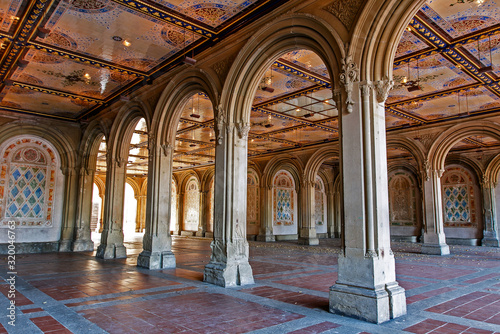 Bethesda Terrace underpass in New York City's Central Park. фототапет