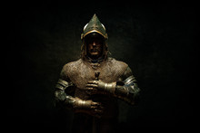 Portrait Of A Knight In Armor ...