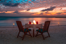 Beach Dinner At The Sunset