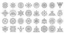 Alchemy Icons Set. Outline Set...