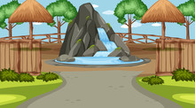Scene With Small Waterfall In ...
