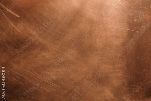 Canvas-taulu Copper background. There are scratches on the copper surface.