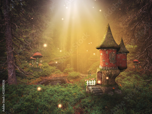 fantasy background in a fairy world