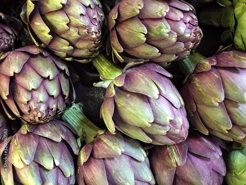 Full Frame Shot Of Artichokes Canvas Print