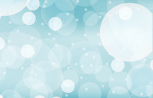 Background Template With Blue Bubbles