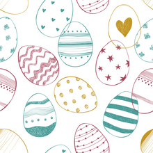 Easter Seamless Pattern With O...