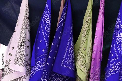 Fotografia Close-Up Colorful Handkerchiefs For Sale
