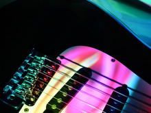 Electric Guitar In The Stage C...