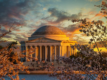Beautiful Sunset At Thomas Jefferson Memorial
