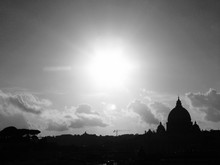Silhouette St Peters Basilica Against Sky