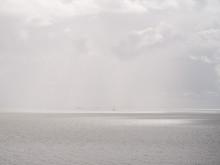 Hazy View Over Markermeer Lake...