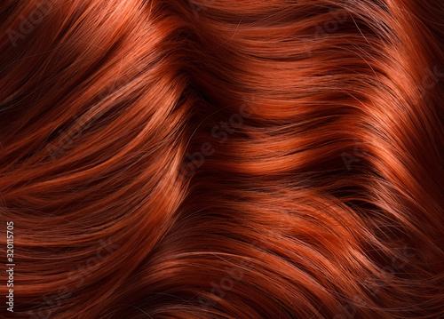 Carta da parati wavy bright red hair texture