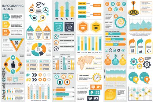 Fotomural Bundle infographic elements data visualization vector design template