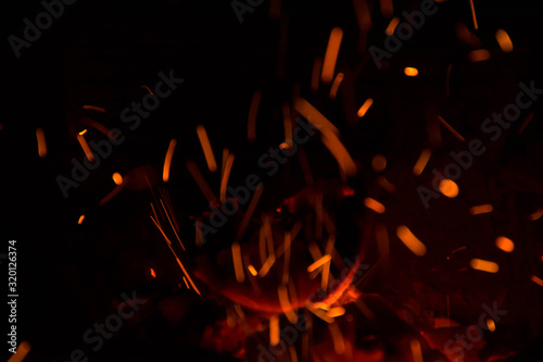 Obraz Close-Up Of Sparks At Night - fototapety do salonu