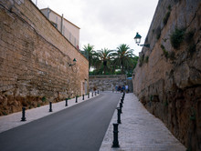 Street Near Town Hall In Old Town Of Ciutadella, Menorca, Balearic Islands, Spain, September, 2019