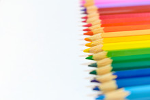 Row Of Different Colored Pencils