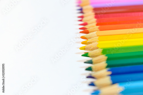 Row of different colored pencils Wallpaper Mural