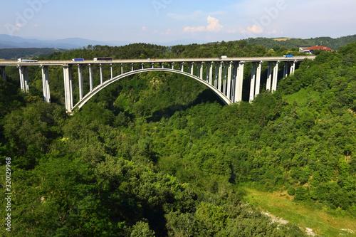 Ponte sulla autostrada del sole Canvas Print