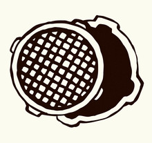 Round Manhole Cover. Vector Dr...