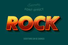 Rock Text, Editable Text Style