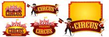 Sticker Design Templates For Circus