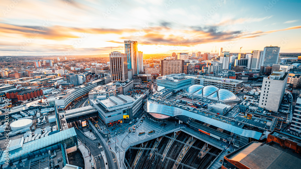 Fototapeta Birmingham Grandcentral Sunset
