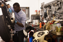Afro American Worker Working A...