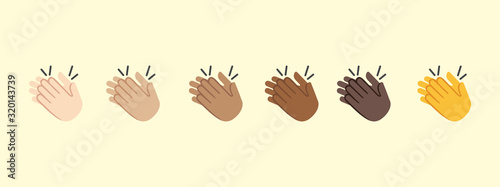 Photo Clapping Hands vector isolated icon illustration