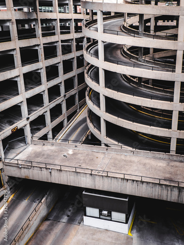 Exterior Of Parking Lot Building - fototapety na wymiar