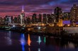 new york LIT UP AT dusk