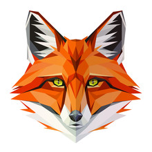 Fox Low Poly Design. Triangle ...