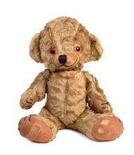 Old Vintage Teddy Bear Isolated