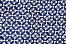 Full Frame Shot Of Patterned Blue Fabric