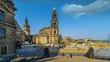 Dresden Cathedral, or the Cathedral of the Holy Trinity, Dresden, previously the Catholic Church of the Royal Court of Saxony, called in German Katholische Hofkirche.Time Lapse hyperlapse Schlossplatz