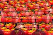 Leinwanddruck Bild - FULL FRAME SHOT OF CHINESE LANTERNS