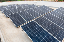 Rooftop Solar Panels On Top Of...