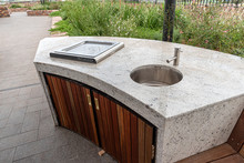 Outdoor Bbq And Sink On Top Of...