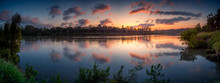Panoramic River Dawn