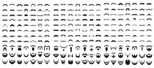 Set Of Beard With Mustache Or ...