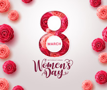 March 8 Women's Day Design. Wo...