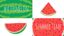 Watermelon Slices Collage, Fre...