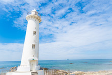 愛知県の知多半島にある観光名所「野間灯台」の写真