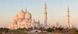 Leinwanddruck Bild - Panorama of Sheikh Zayed Grand Mosque in Abu Dhabi, UAE