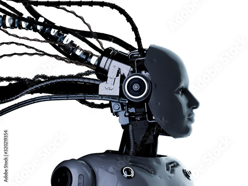 Photographie Female cyborg or robot