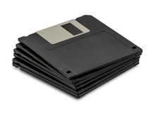 Stacked Floppy Disks Isolated ...