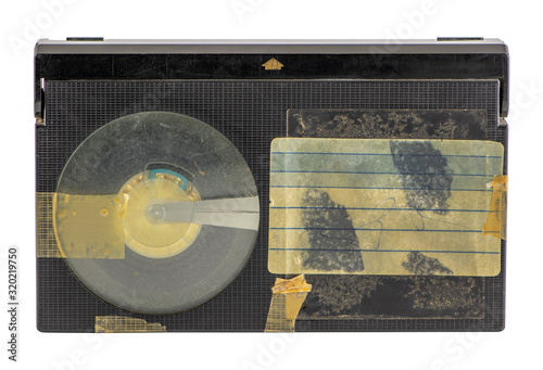Fotografering Old betamax video cassette isolated on white background