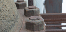 Large Rusty Nuts On A Latch. S...