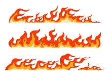 Orange Flame. Burning Fire Lin...